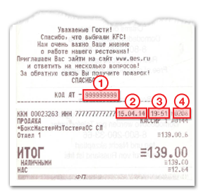 Инструкция по заполнению данных с чека