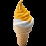 Мороженое рожок в глазури со вкусом маракуйя-манго